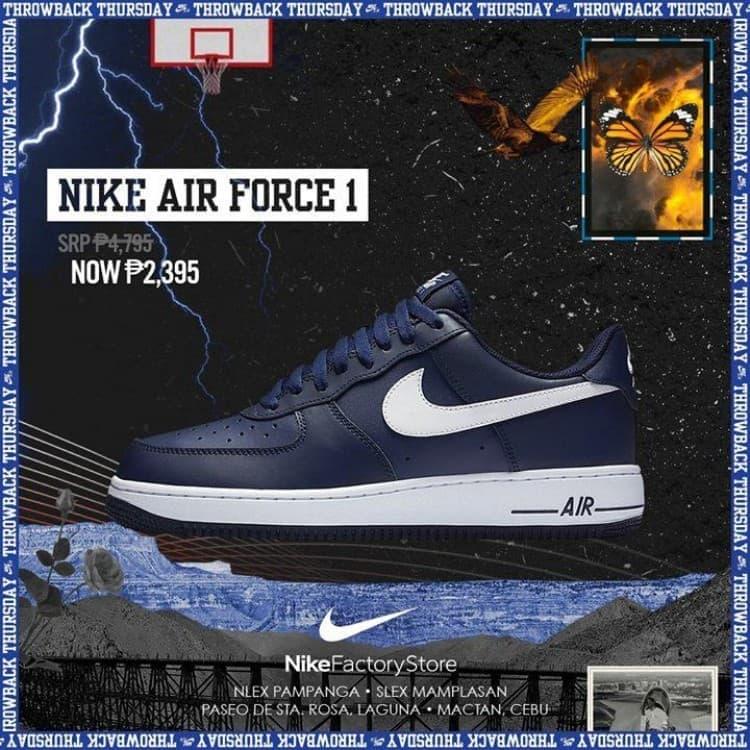 design intemporel c5e0d aea31 Nike Air Force 1 Promo at Nike Factory | LoopMe Philippines