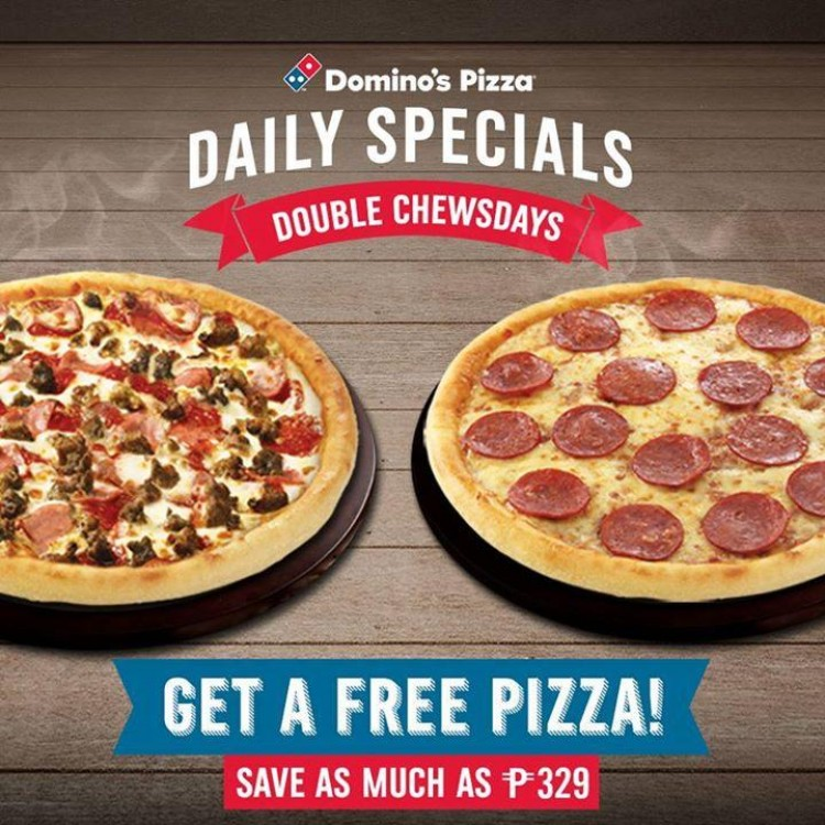 Double Chewsdays At Domino S Pizza Loopme Philippines