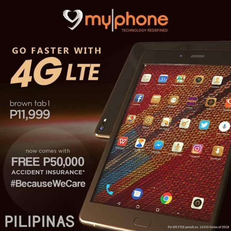 myPhone Brown tab1 4G LTE | LoopMe Philippines
