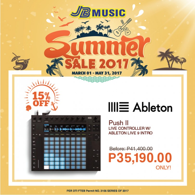 ableton push 2 digital controller sale at jb music loopme philippines