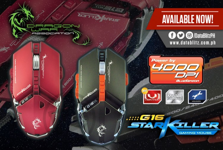 215b7ff8617 Dragon War ELE-G16 Starkiller Gaming Mouse at Data Blitz | LoopMe  Philippines