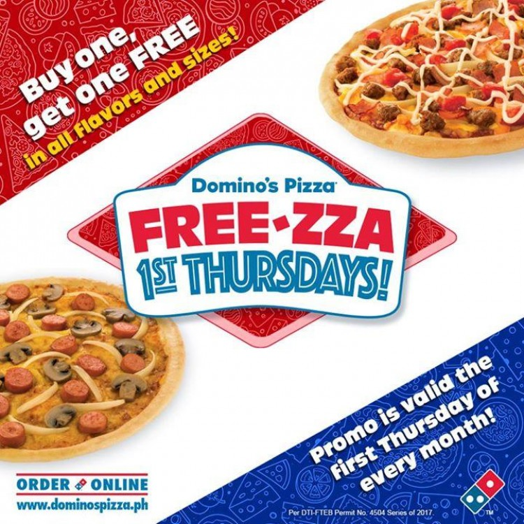 Free Za Thursdays At Domino S Pizza Loopme Philippines