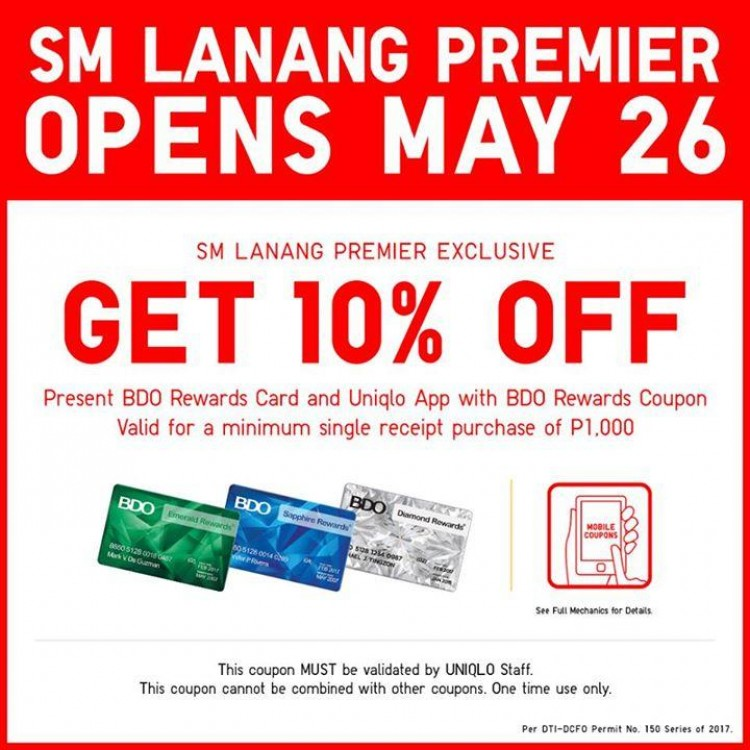 Uniqlo Promo At Sm Lanang Premier Loopme Philippines