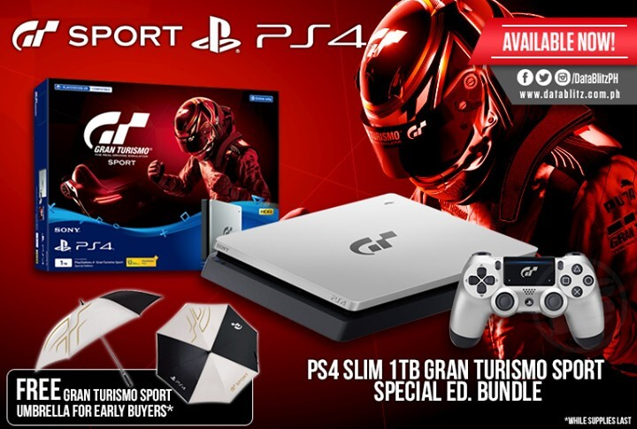 ps4 slim 1tb gran turismo sport special edition at data blitz loopme philippines. Black Bedroom Furniture Sets. Home Design Ideas