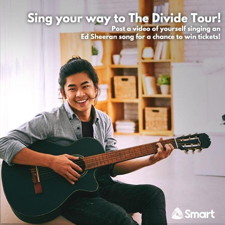 Smarts ed sheeran concert tickets giveaway loopme philippines m4hsunfo