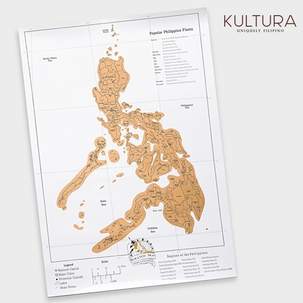 Philippines scratch map at kultura loopme philippines gumiabroncs Choice Image