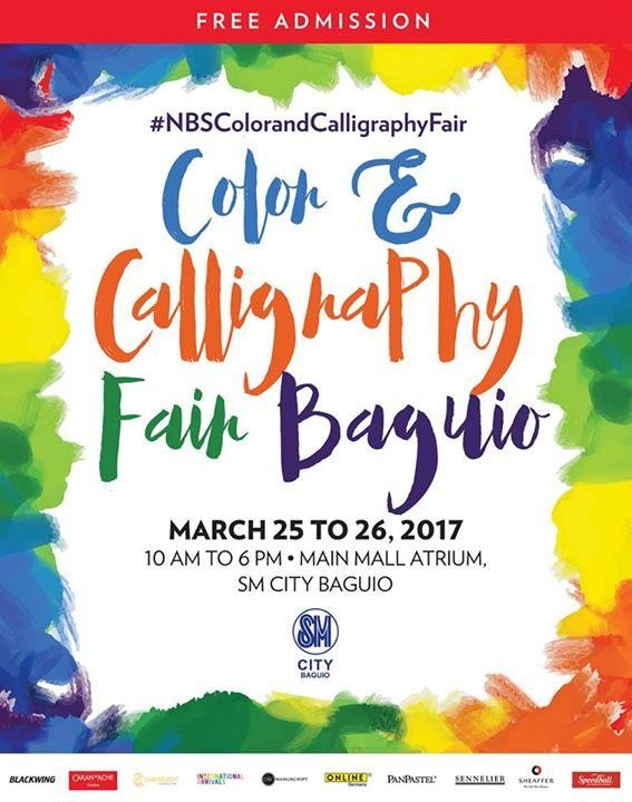 Color and calligraphy fair baguio by national bookstore Coloring book national bookstore