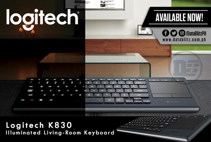 Logitech Illuminated Living Room Keyboard K830 At Data Blitz