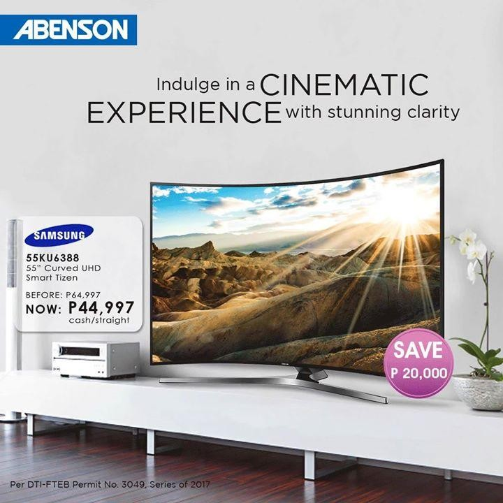 samsung curved smart tv promo at abenson appliance loopme philippines. Black Bedroom Furniture Sets. Home Design Ideas