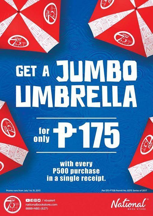 Jumbo Umbrella From National Bookstore