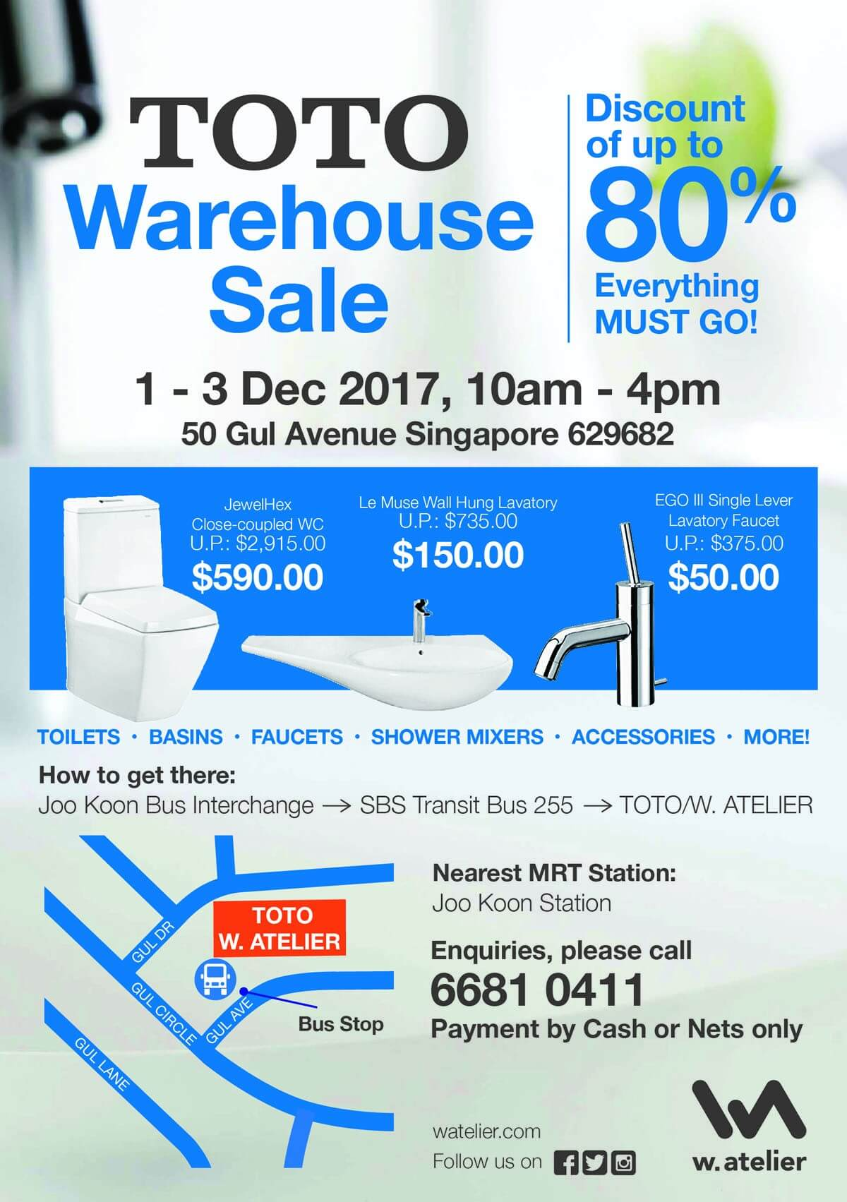 TOTO Warehouse Sale By w.atelier | LoopMe Singapore