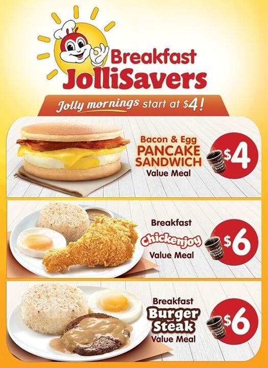 Jollibee New Breakfast Jollisavers