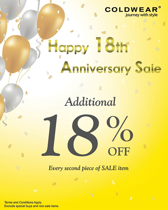 Coldwear th anniversary sale changi city point and imm