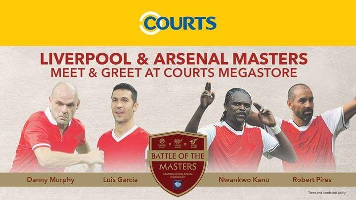 Courts liverpool arsenal masters meet greet event loopme singapore m4hsunfo