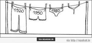 Trend celana dari tahun ke tahun
