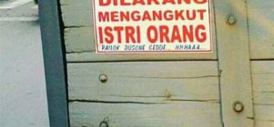 Dilarang angkut istri orang lain