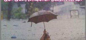 Untung bawa payung
