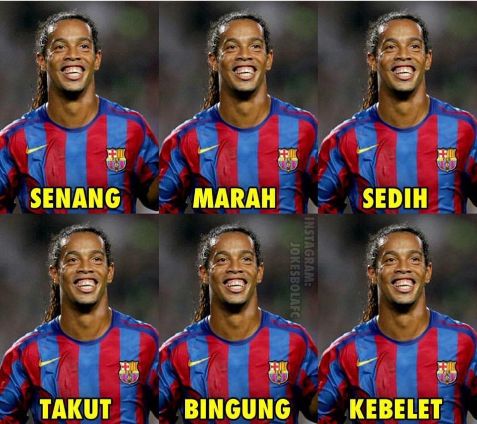 Ekspresi Ronaldinho