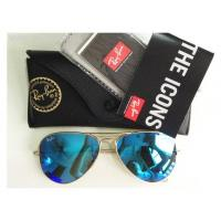 Brand new Ray-Ban RB3025 Aviator Crystal Blue Mirror