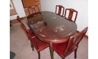 Beautiful rosewood dining table with 6 chairs - negotiable