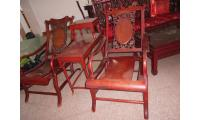 beautiful rosewood chair and 1 coffee table - negotiable