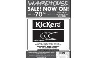 KICKERS AND CRISS CROSS WAREHOUSE SALE! 10-14 DEC'14