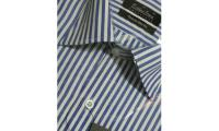 Esther Jones Blue Striped Men's Shirts