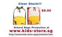Clear stock! school bags only $8