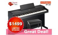 Great Deal! Roland RP 301 Digital Piano with free piano bench