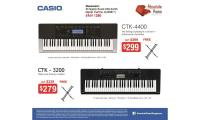Casio Keyboard Promotions at Absolute Piano! CTK 4400, CTK 3200