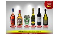 $98.80/pc Macallan 12yrs Whisky, $94.80/pc Chivas Regal 18yrs Whisky, $78.80/pc Martell Vsop