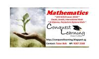 IGCSE, GCE N/O/A Level Mathematics Home Tuition by Full Time Male Tutor Call 9187-2168