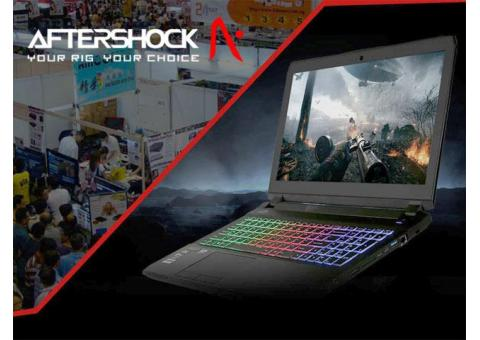 Aftershock Gaming Laptops & Desktops @ IT Show 2017