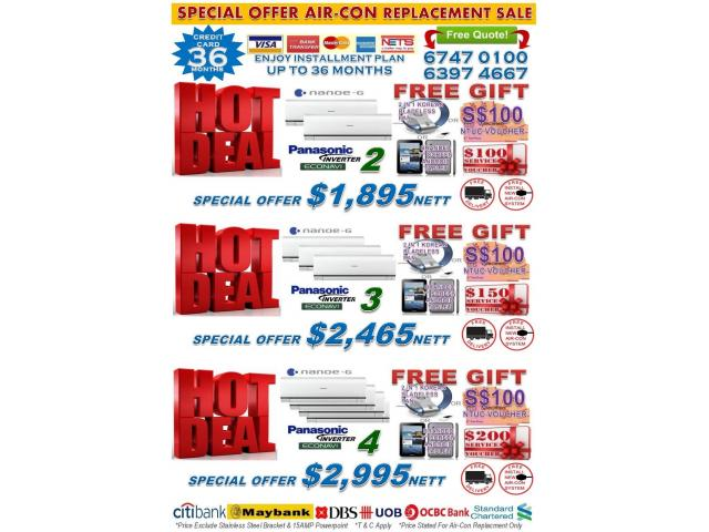 Singapore Air Con Crazy Sale 2017 Branded Air Con Promotion Free Ntuc Voucher Phing Com