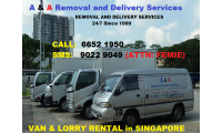 VAN & LORRY RENTAL in SINGAPORE CALL 6652 1950