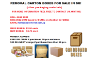 REMOVAL CARTON BOXES CALL: 6652 2595