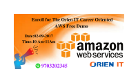 Enroll For The Orien IT Career Oriented AWS Free Demo On 2nd of September Saturday @ 10 AM.