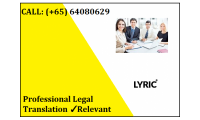 Professional Legal Translation in Singapore