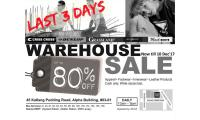 LAST 3 DAYS: WAREHOUSE SALE NOW TILL 10 DEC'17