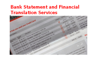 Bank Statement and Financial Translation Services