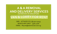 Moving van with driver  starts $ 40 CALL WHATSAPP 93602706 ATTN: REYCEL