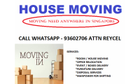 Need LORRY FOR HOUSE MOVING CALL WHATSAPP 93602706 ATT: REYCEL