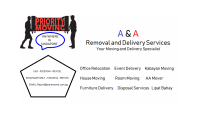 A&A REMOVAL AND DELIVERY SERVICES CALL WHATSAPP REYCEL AT 93602706