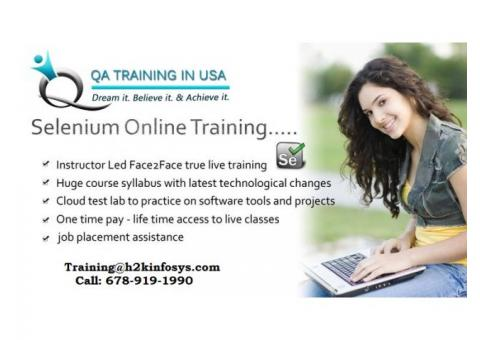 Selenium Training for entry level professionals by QA Training in USA.