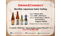 9 March 2018, Registration thru WhatsApp 9835 0388 - Free Sake Tasting with Pot Luck