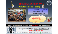 April 6, 2018, 6pm-10pm - Free Sake Tasting at Drink2Connect Ubi Road 1