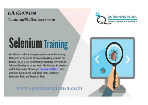 Selenium Online Training with Job Support & Projects