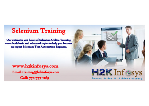 Selenium Online Training Courses with Job Support