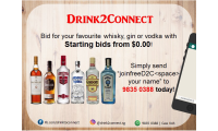 Bid Your Favourite Drinks at $0.00 Start Bids - Drink2Connect