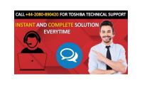 Dial Toshiba Contact Number for Support +44-2080-890420
